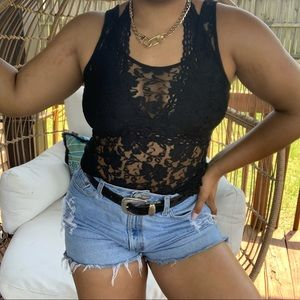 Urban Outfitters Kimchi Blue Boho Lace Tank Top